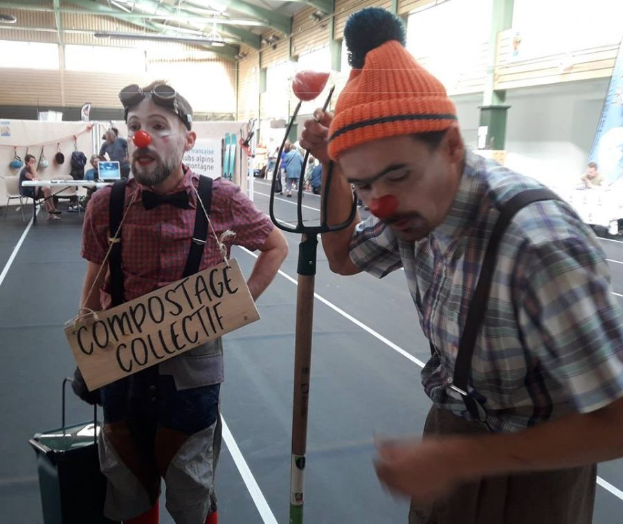 Clown au forum des associations de Moutiers