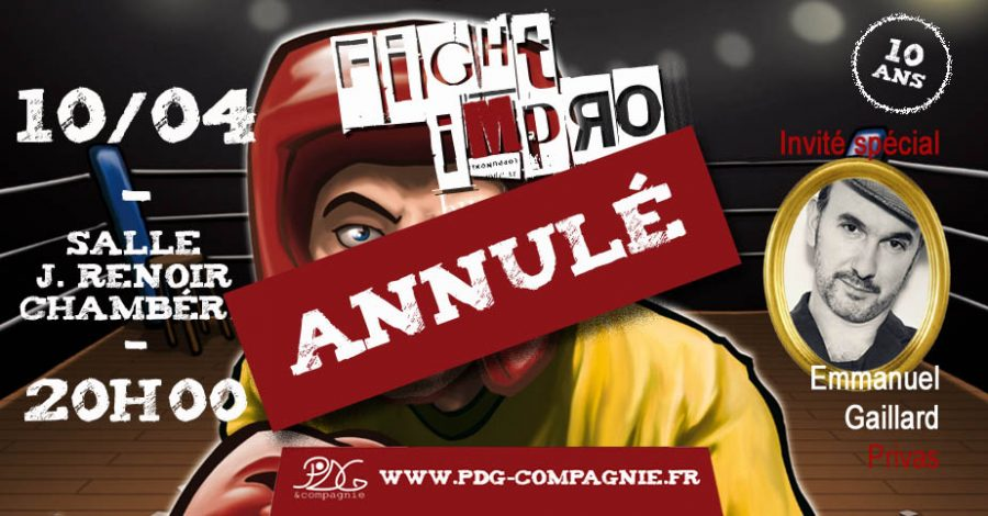 Fight Impro du 10 avril – annulé